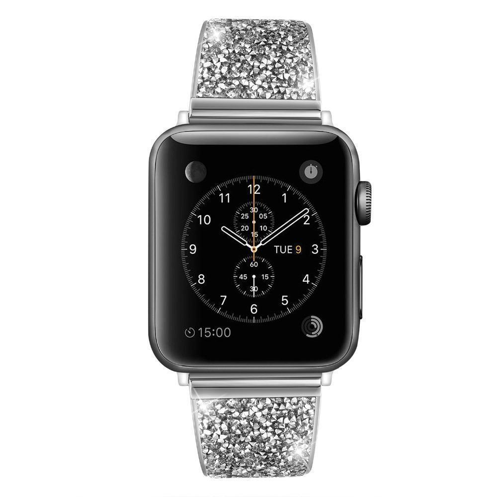 Apple Silver / 38mm / 40mm Apple Watch Series 5 4 3 2 Band, Rose gold, Silver or Black Luxury Watchbands Stainless Steel Bracelet Srap 38mm, 40mm, 42mm, 44mm