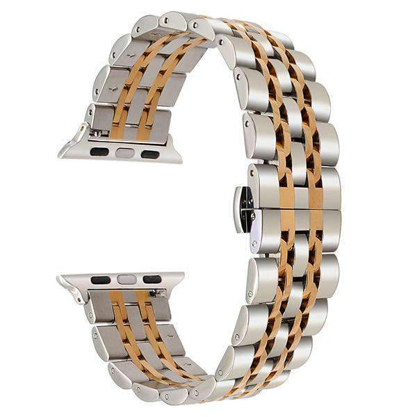 Apple Silver Rose Gold / 38mm Apple watch band link sport strand Stainless Steel Watchband for iWatch  44mm/ 40mm/ 42mm/ 38mm Series 1 2 3 4  Bracelet strap Black Rose Gold Silver
