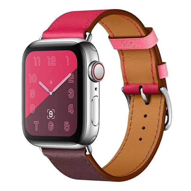 Apple Single-rose wine / for 38mm and 40mm manufacturer Leather Loop for iwatch 4 3 2 1 Strap for Apple Watch Band 38mm 42mm 40mm 44mm Flower Design