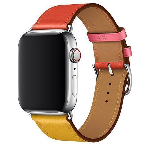 Manufacturer Leather Loop for iwatch Flower Design Strap for Apple Watch