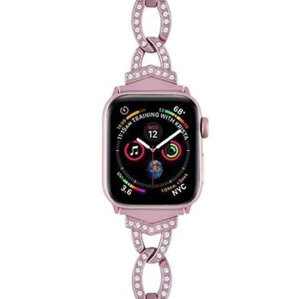 Apple Stainless Steel Metal Dress Jewelry Bracelet for apple watch series 4 3 2 1 38MM 42MM Bling Strap band for Iwatch 4 40MM 44MM