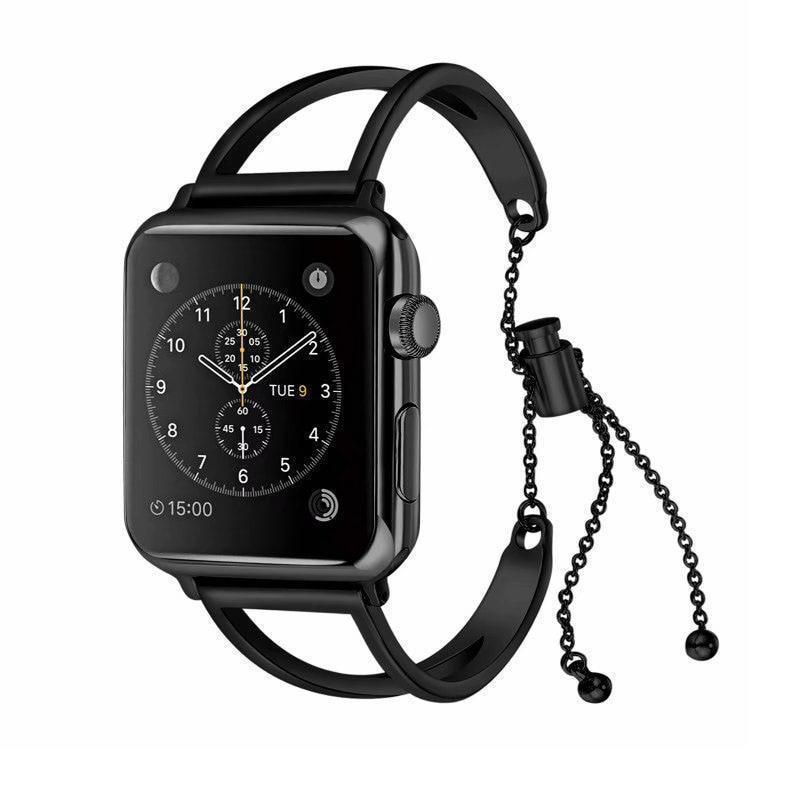 apple watch bands Black / 38mm / 40mm Apple Watch Series 5 4 3 2 Band, Apple Watch Minimalist Band Cuff, Luxury Bracelet Fits 38mm 40mm 42mm 44mm - US fast shipping