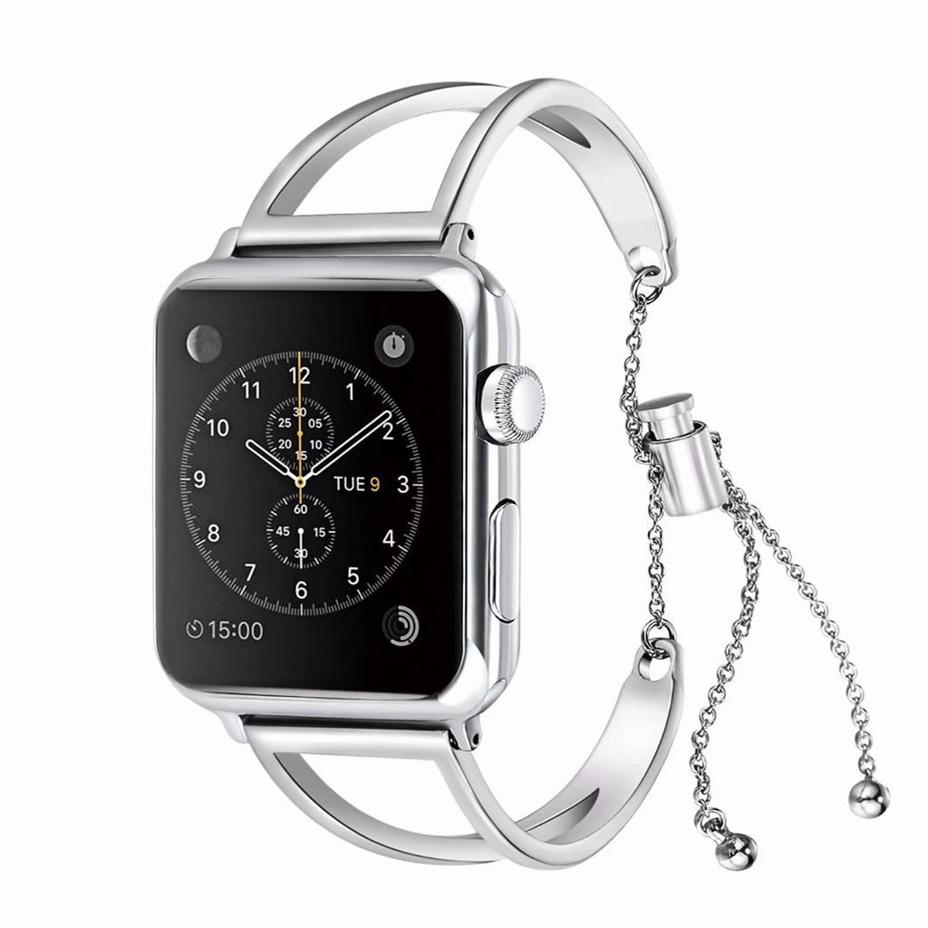 apple watch bands Silver / 38mm / 40mm Apple Watch Series 5 4 3 2 Band, Apple Watch Minimalist Band Cuff, Luxury Bracelet Fits 38mm 40mm 42mm 44mm - US fast shipping