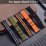 Apple Watchband For Apple Watch Band 42mm 44mm Nylon NATO Sport Strap 38mm 40mm iWatch Bands Accessories Bracelet Series 4 321