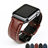 Apple Watchbands genuine cow leather watch strap for Apple Watch Band 42mm 38mm series 4 1 iwatch 4 44mm 40mm  watch bracelet