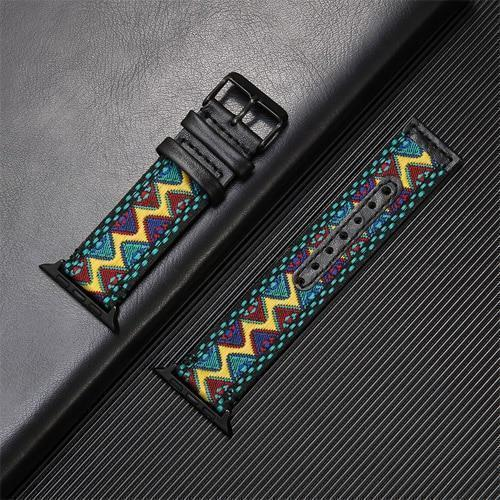 Home 5 / 38mm Fabric&leather strap for apple watch 5/4/3/2/1 apple watch band 44mm 40mm 42mm 38mm iwatch bracelet high quality Accessories