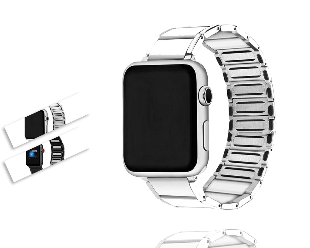 Home Apple watch band black / silver stainless steel Magnetic strap,  iwatch magnet loop series 5 4 3 44mm 40mm 42mm 38mm