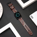 Home Dark Coffee / 38mm/40mm Handmade Luxury Embossing Genuine Leather Bracelet Apple Watch Band ,  iwatch 38mm 40mm 42mm 44mm Series 5 4 3