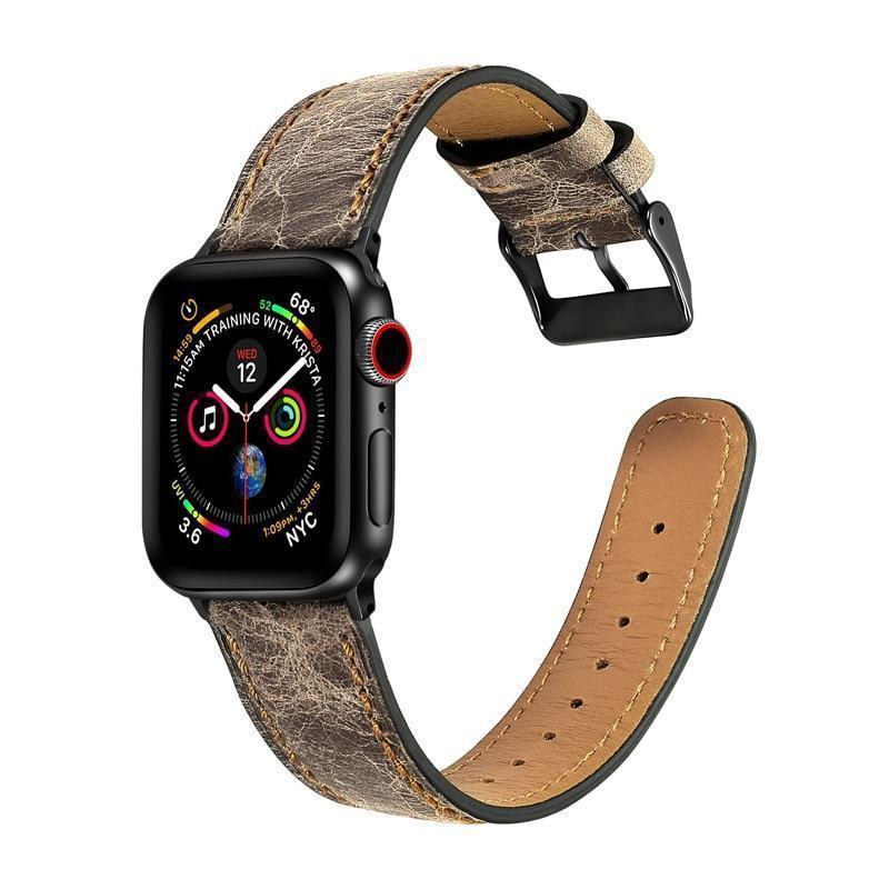 Home Genuine Leather strap for apple watch 5 4 band 44mm 40mm apple watch 3 42mm 38mm iwatch series 5/4/3/2/1 bracelet Accessories