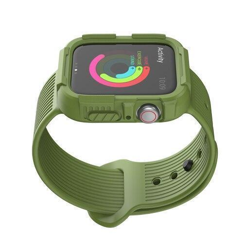 Home green / 38mm/40mm series 4 Anti fall case+strap for apple watch band 44mm 40mm Silicone Protector cover+bracelet for iwatch Apple watch 4 5 Accessories