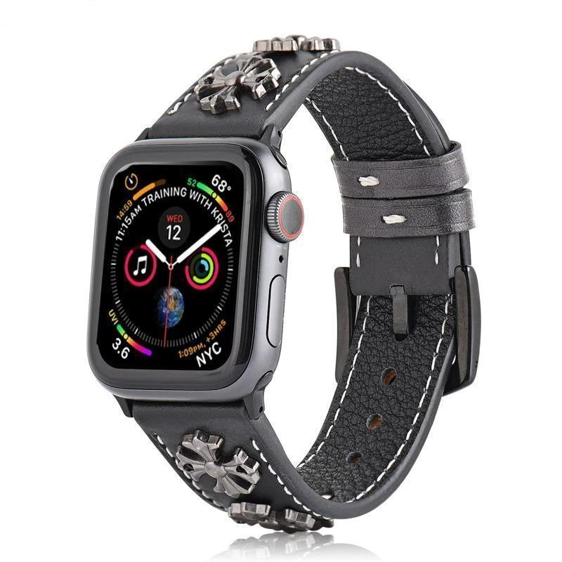 Home Leather strap for Apple watch band 5 4 3 2 1 44mm 40mm iwatch correa 42mm 38mm 3 2 high quality Bracelet for Apple watch Accessories
