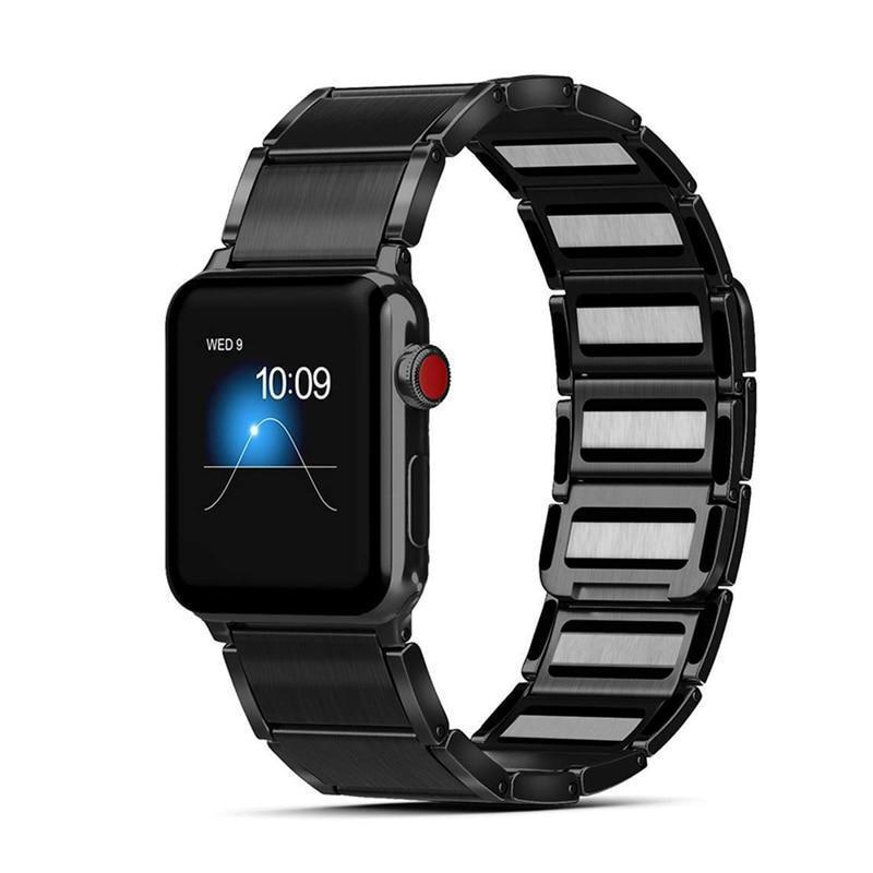 Home Magnetic strap for apple watch band 44mm 40mm 42mm 38mm iwatch series 5/4/3/2/1 Women Men Stainless Steel Adjustable bracelet on AliExpress