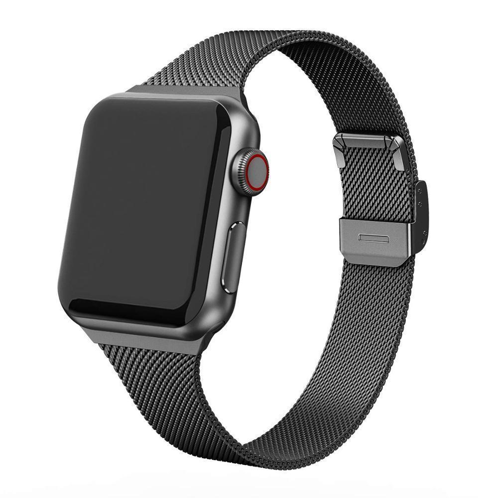 Home Milanese strap For Apple Watch 5 band 40mm iWatch band 38mm Silm Stainless steel metal bracelet Apple watch 4 3 2 1 40 38 mm