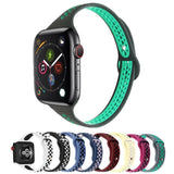 Home Slim strap For Apple Watch 5 band 40mm 44mm iWatch Band 38mm 42mm Breathable sport silicone bracelet Apple watch 5 4 3 2 1 38 40 44