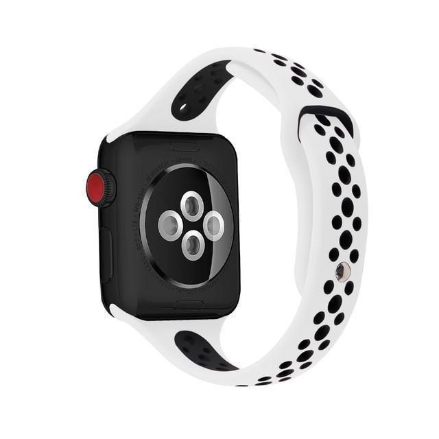 Home white black / 38mm / 40mm Slim strap For Apple Watch 5 band 40mm 44mm iWatch Band 38mm 42mm Breathable sport silicone bracelet Apple watch 5 4 3 2 1 38 40 44