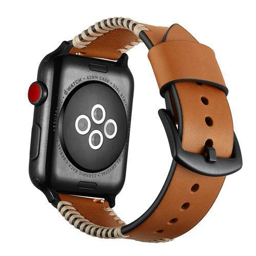 Stitched Leather Strap for Apple Watch