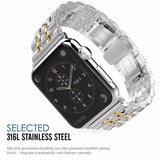 Metal Link Stainless Steel Strap For Apple Watch - 4 Colors