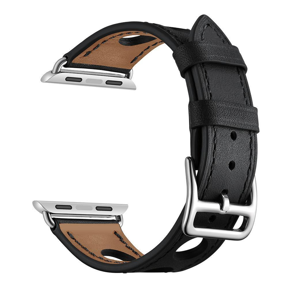 Black Genuine Leather Hollow Style Band