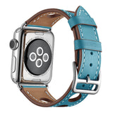 Light Blue Genuine Leather Hollow Style Band