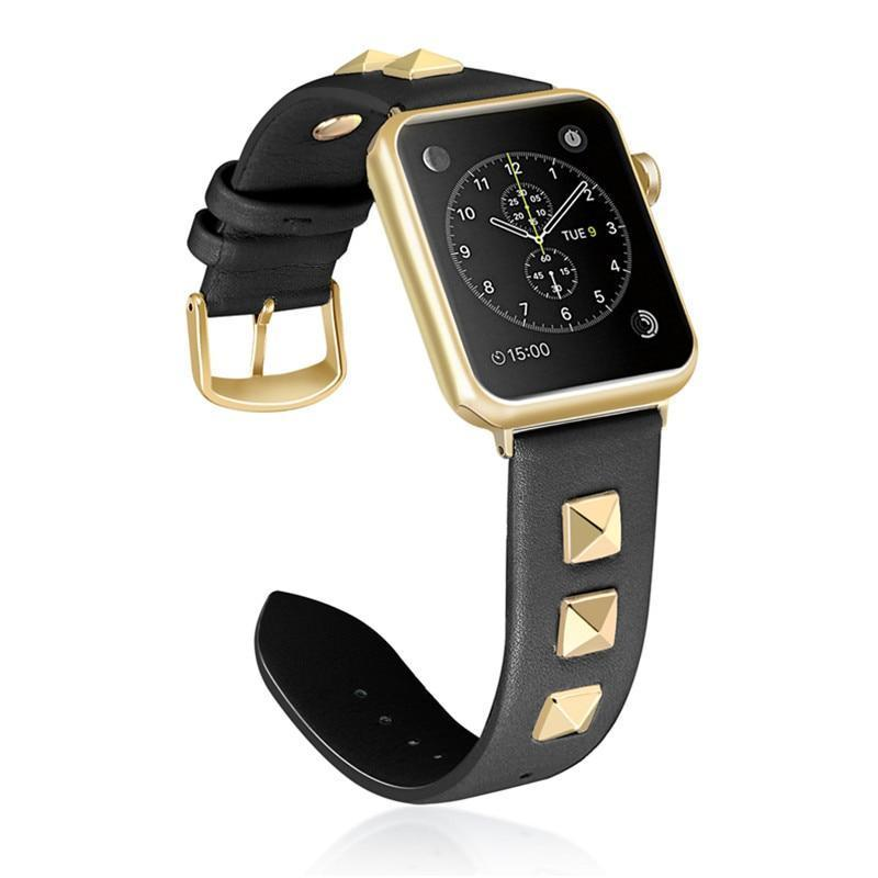 Punk Leather Strap for Apple Watch