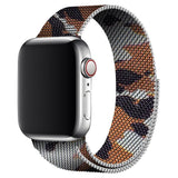 Brown Camouflage Milanese Apple Watch Band