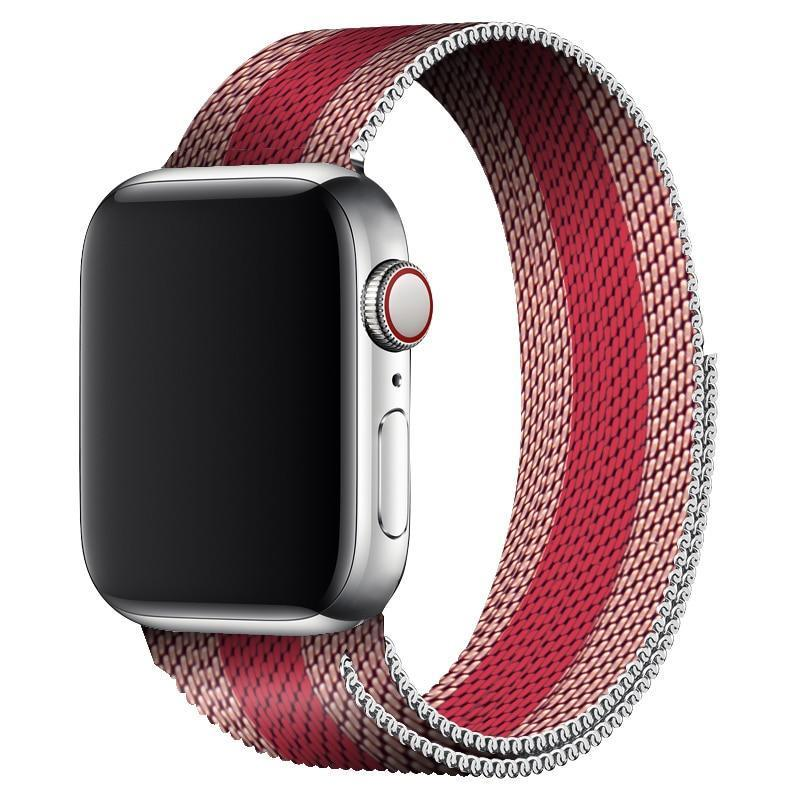 Rose'n Red Milanese Apple Watch Band