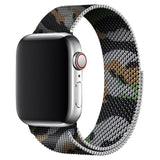 Black Camouflage Milanese Apple Watch Band