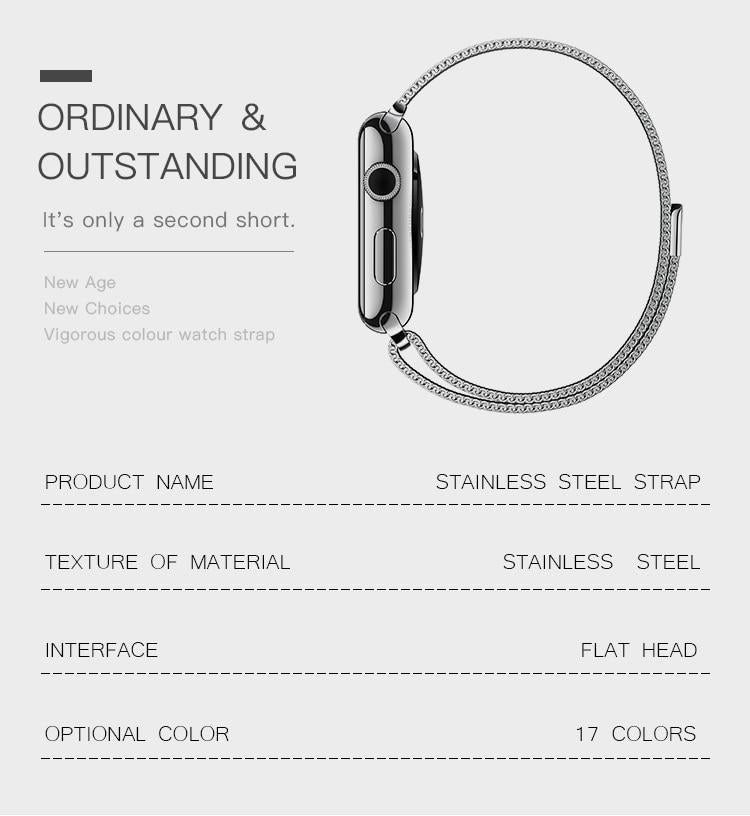 Black'n Green Milanese Apple Watch Band