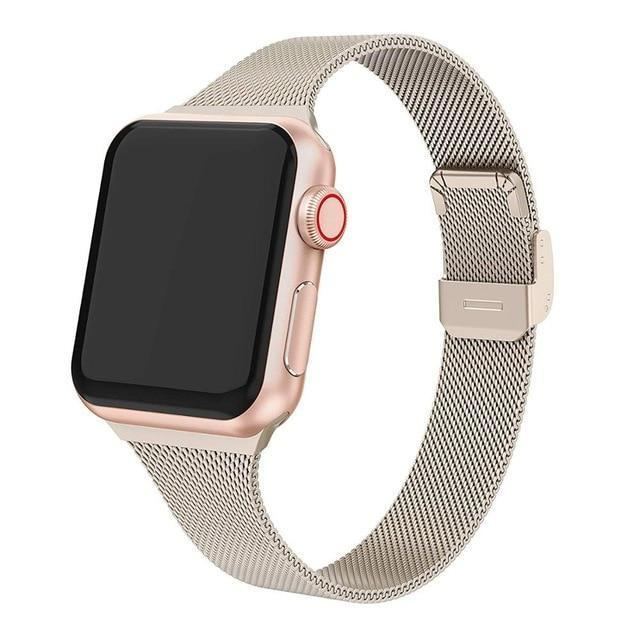 Cali® Champagne Milanese Apple Watch Band