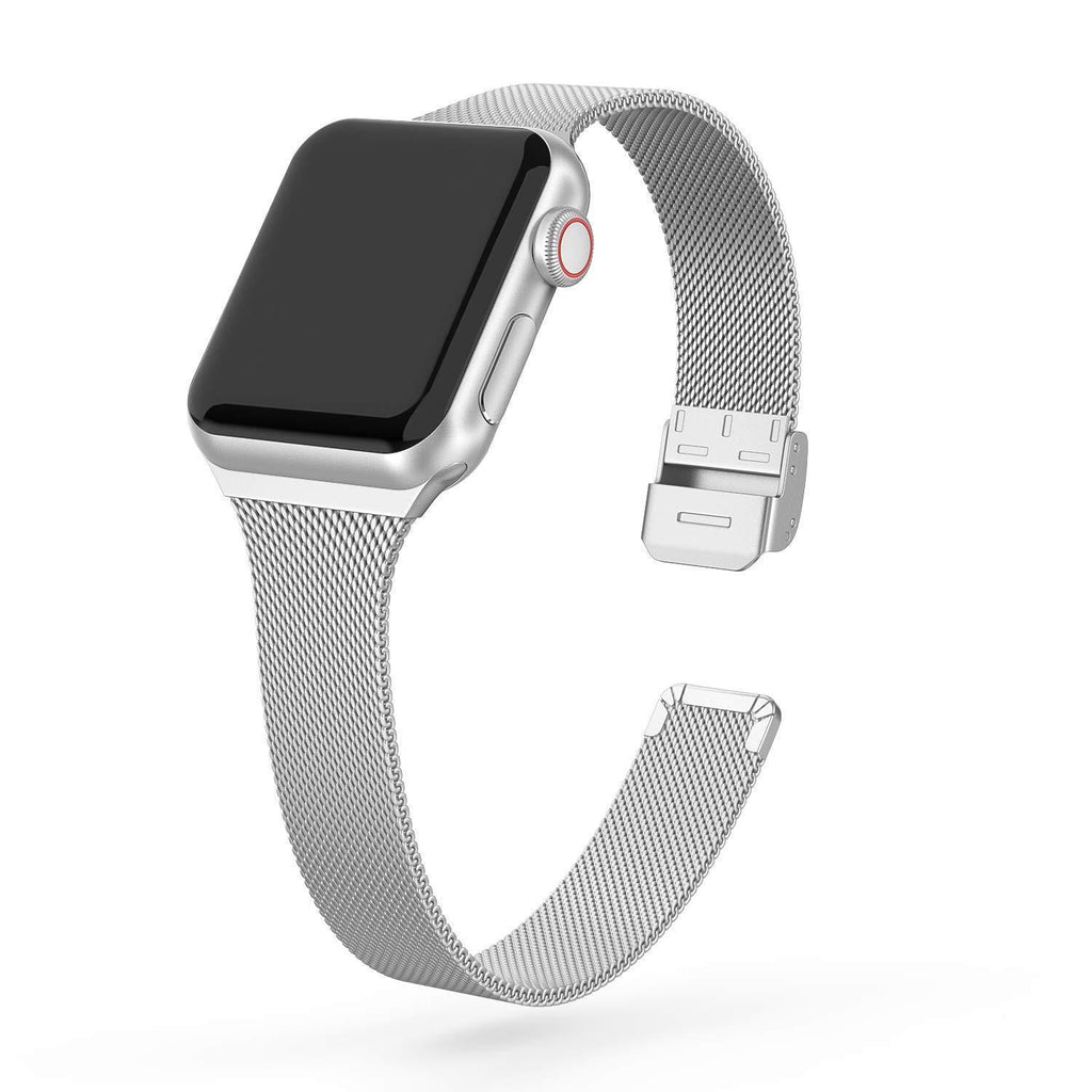 Cali® Silver Milanese Apple Watch Band