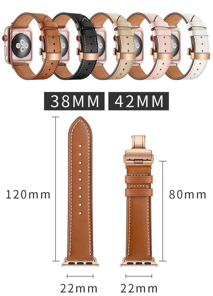 Brown Premium Leather Apple Watch Band