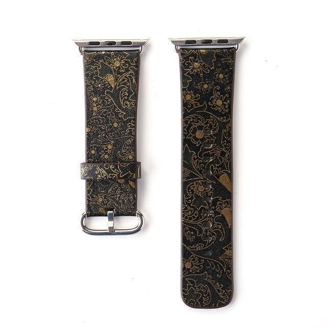 Watchbands 13 / 38mm/40mm Leather strap For Apple Watch  band apple watch 5 4 3 band 44mm/40mm correa iwatch band 42mm/38mm Floral Printed  Bracelet belt