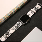 Watchbands 2 / 38mm/40mm leather strap for apple watch band 42mm 38mm 44mm 40mm correa Printing flower bracelet watchband for iwatch pulseira 5/4/3/2/1