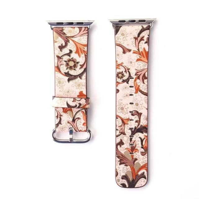 Watchbands 20 / 38mm/40mm Leather strap For Apple Watch  band apple watch 5 4 3 band 44mm/40mm correa iwatch band 42mm/38mm Floral Printed  Bracelet belt