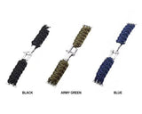 Watchbands Apple Watch Paracord nylon band, Handmade men army sport strap 5 4 3  44mm 40mm 42mm 38mm, millitary Survival Rope Metal Bolt Clasp - US ship