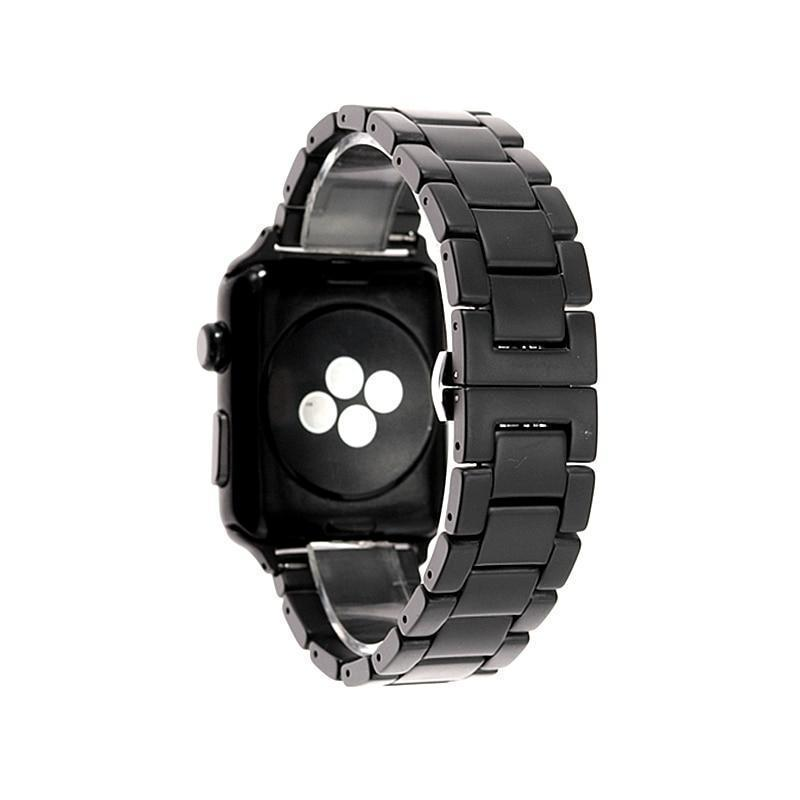 Watchbands Apple Watch Series 5 4 3 2 Band, New Men Style Ceramic Sandblasting Matte Sport Black iWatch, fits Nike Sports  38mm, 40mm, 42mm, 44mm