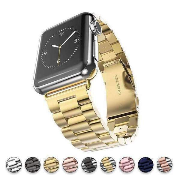 Watchbands Apple Watch Series 5 4 3 2 Band, Stainless Steel Sports link strap iWatch  38mm, 40mm, 42mm, 44mm - US Fast Shipping