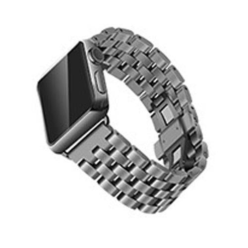 Watchbands Black / 38mm/40mm Apple Watch Band Strap Stainless Steel Watchband, Rolex style Link Silver Rose Gold Black Metal Bracele iwatcht 42mm 38mm 44mm 40mm Series  5 4 3