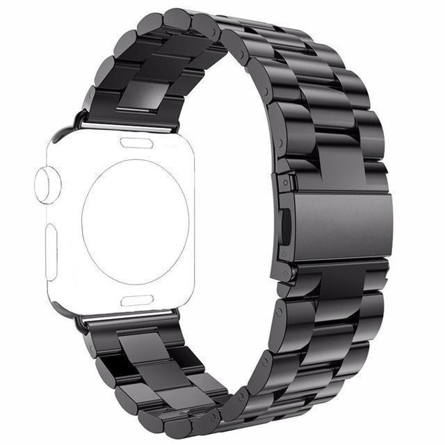 Watchbands black / 42 / 44mm watch band Apple Watch Series 5 4 3 2 Band, Stainless Steel Sports link strap iWatch  38mm, 40mm, 42mm, 44mm - US Fast Shipping