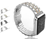 Watchbands case+Strap For Apple Watch band 42mm 38mm apple watch 4 3 5 iwatch band correa Stainless Steel pulseira Butterfly watchband