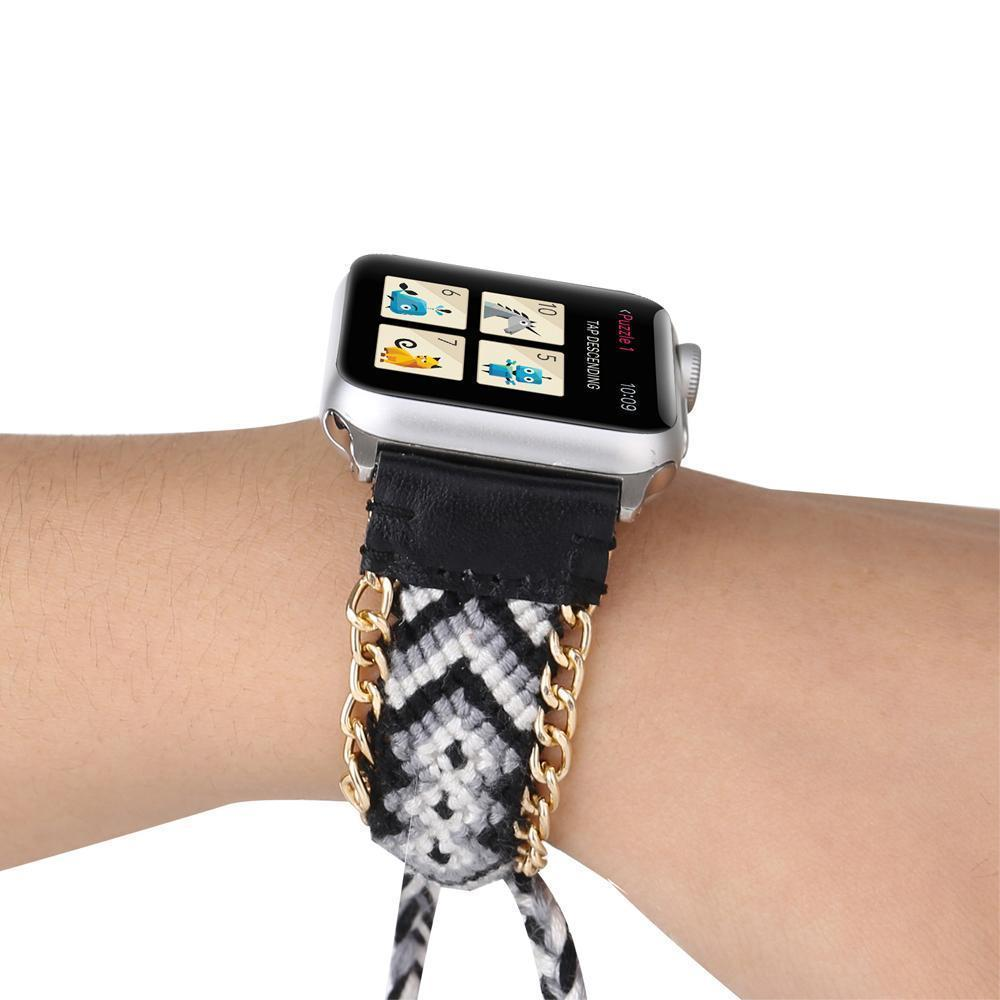 Watchbands China / Black / 38mm or 40mm Handmade friendship Braided rope strap for Apple watch band 44mm 40mm 42mm 38mm bracelet watchbands fits iwatch series 5 4 3 2