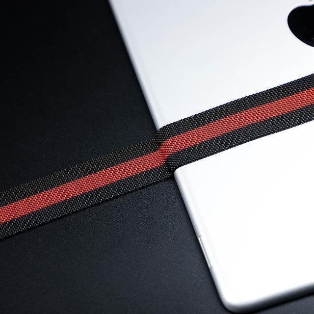Watchbands China / black red / 38mm OR 40mm High Quality Milanese loop For Apple Watch band strap apple watch 5 band 44mm 40mm iwatch 4 3 42mm/38mm Better material Process