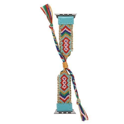 Watchbands China / Turquoise / 38mm or 40mm Handmade friendship Braided rope strap for Apple watch band 44mm 40mm 42mm 38mm bracelet watchbands fits iwatch series 5 4 3 2
