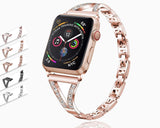 Watchbands Designers Apple watch V Cuff Bracelet, bling diamond crystals Stainless Steel band, women  iwatch strap series 5 4 3, 42mm 38mm 4 44mm 40mm