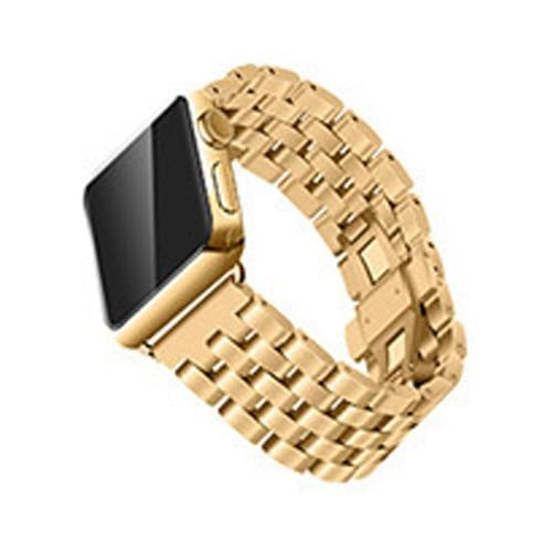Watchbands Gold / 38mm/40mm Apple Watch Band Strap Stainless Steel Watchband, Rolex style Link Silver Rose Gold Black Metal Bracele iwatcht 42mm 38mm 44mm 40mm Series  5 4 3
