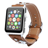 Watchbands Leather strap For Apple watch band apple watch 4 3 band 42mm/44mm 38mm/40mm correa iwatch band stainless steel belt bracelet