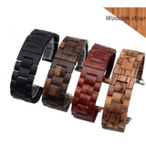 Watchbands Natural Wood Watch Bracelet for Apple Watch Band 38/42mm Luxury Watch Accessories for IWatch Strap Watchband with Adapters