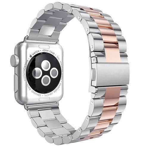 Watchbands Pink / 38mm / 40mm watch band Apple Watch Series 5 4 3 2 Band, Stainless Steel Sports link strap iWatch  38mm, 40mm, 42mm, 44mm - US Fast Shipping