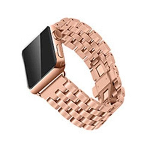 Watchbands Rose gold / 38mm/40mm Apple Watch Band Strap Stainless Steel Watchband, Rolex style Link Silver Rose Gold Black Metal Bracele iwatcht 42mm 38mm 44mm 40mm Series  5 4 3