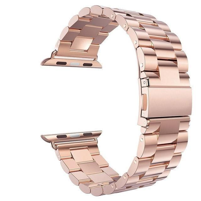 Watchbands rose gold / 38mm / 40mm watch band Apple Watch Series 5 4 3 2 Band, Stainless Steel Sports link strap iWatch  38mm, 40mm, 42mm, 44mm - US Fast Shipping